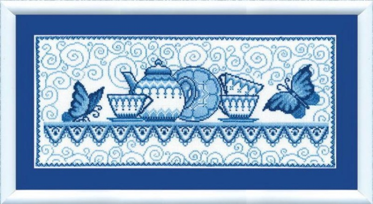 """372  """"Гжель """" - Интернет-магазин товаров рукоделия вышивки крестом happy-hobby."""
