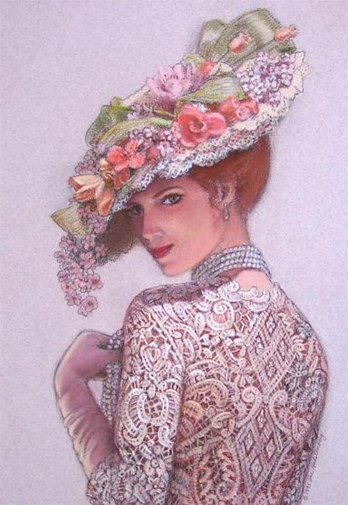 Viktorian Elegance cross stitch.