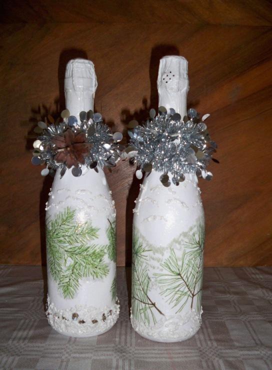Пошаговый декор бутылок