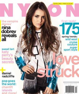 Нина на обложке журнала Nylon [февраль 2012]