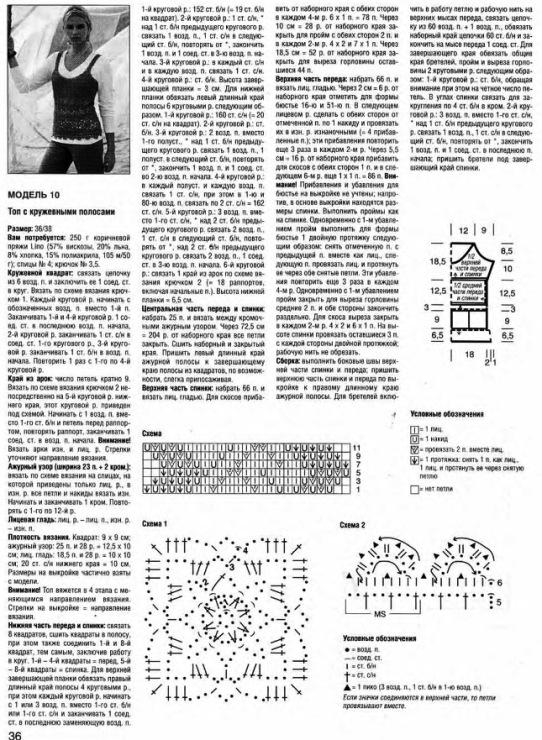 Описание и схема вязания жилета.