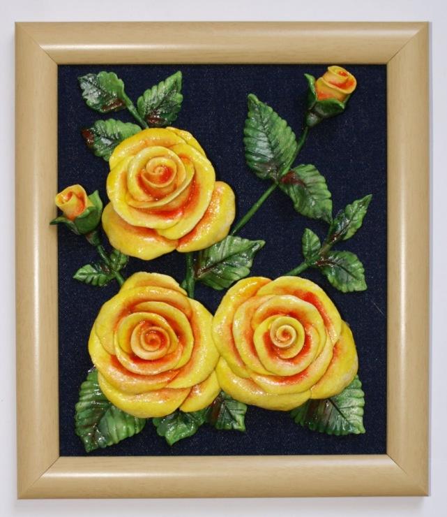 Цветы из соленого теста своими руками фото