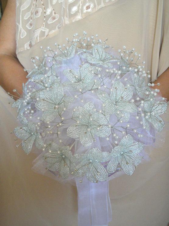 Букет невесты из бисера своими руками 98