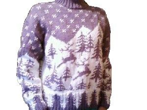 модные свитера фото способ вязания спицами. вязанная кофта.