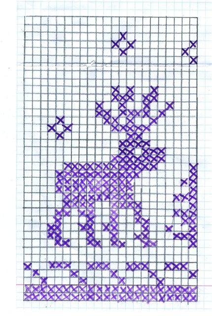 Свитер с оленями схема вязания