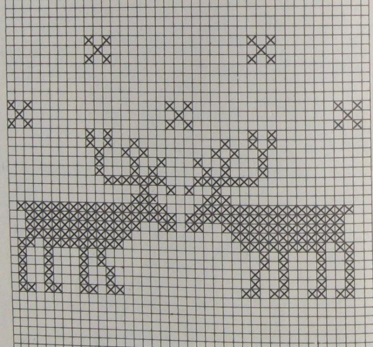 С оленями чтобы связать дочери свитер