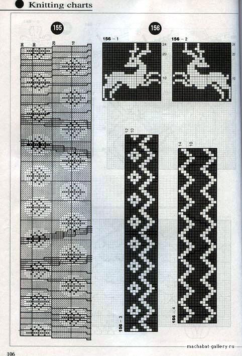 Гардероб Вязание спицами: Схемы свитеров с оленями.