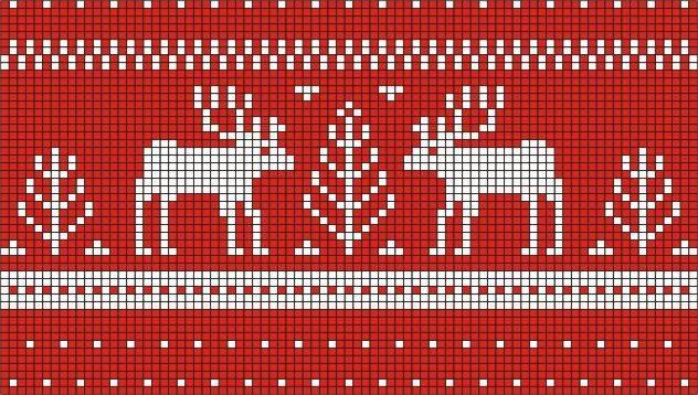 Мужской свитер с оленями - модный