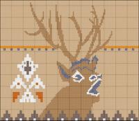 Загружено 99 раз. мужской вязанный свитер с оленями схема.