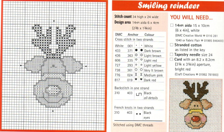 Схема вышивки для свитера