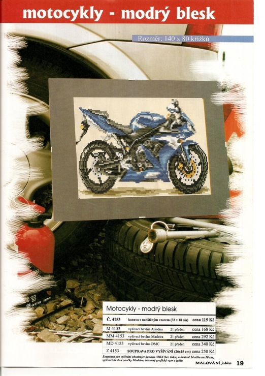 Вышивка крестиком-Мотоцикл