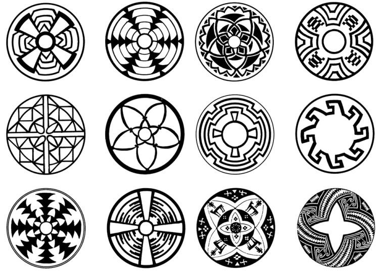 Мексиканские орнаменты и узоры - Узоры