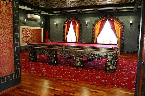 Дизайн бильярдной комнаты фото