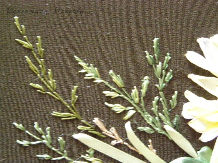 Травки вышивка лентами 50