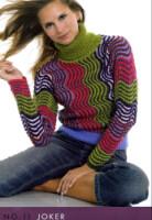 Комментарий: женский свитер с косами грубой вязки.