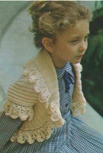 Комментарий: Вязание болеро на спицах девочке