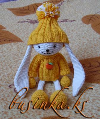 Форум почитателей амигуруми (вязаной игрушки) - Галерея - Просматривает изображение - Зайчик Стёпка.
