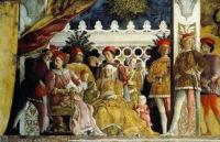 Росписи Андреа Мантеньи в замке Сан-Джорджо, вход с площади Сорделло.