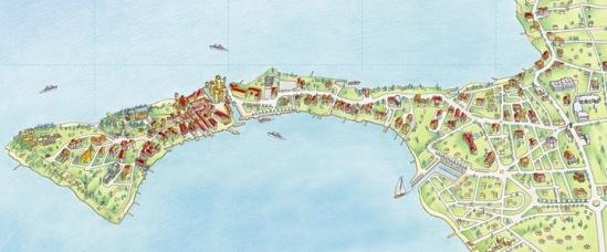 Сирмионе. Туристическая карта.