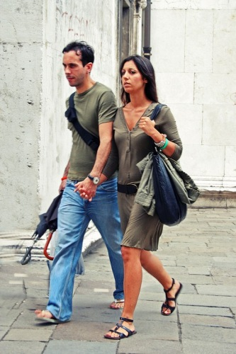 Венеция. Он и она.
