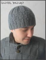 Схема вязания мужской шапки. вязание спицами, вязание крючком мужской...