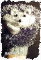Описание: Варежки мужские с орнаментом олени черные с бело-голубым...