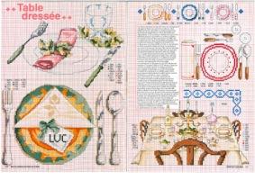 Кухня, еда, посуда - схемы для вышивки крестом. » Клад для