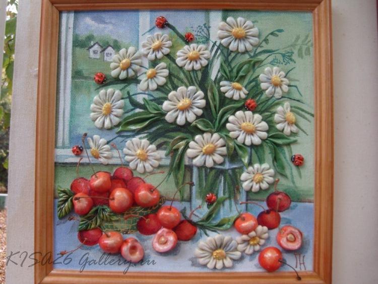 Картины из соленого теста своими руками на кухню
