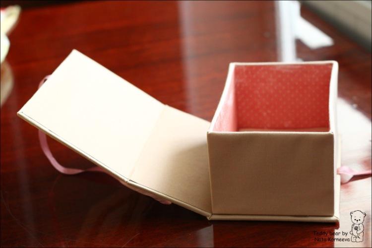 Подарочная коробка своими руками из картона. фото