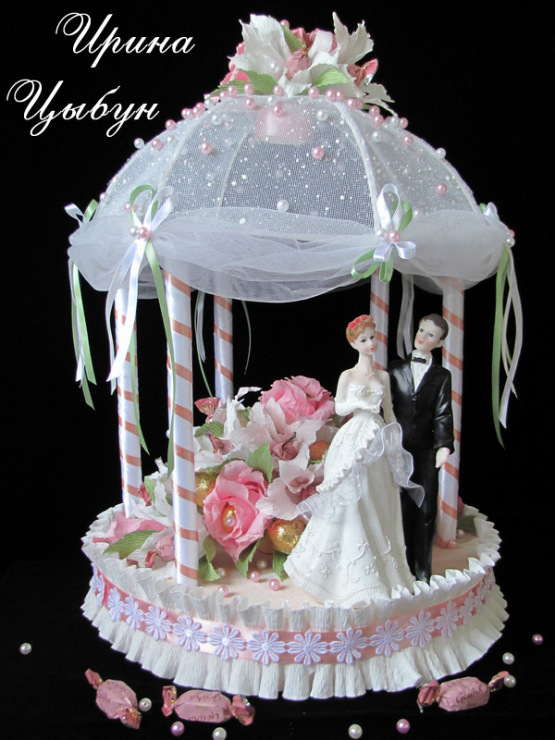 Мастер класс свадебный торт из конфет своими руками