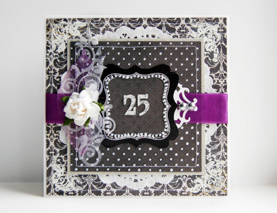Серебряная свадьба открытки своими руками 13