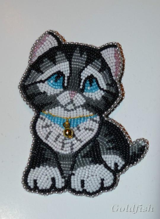 Вышивка котиков из бисера