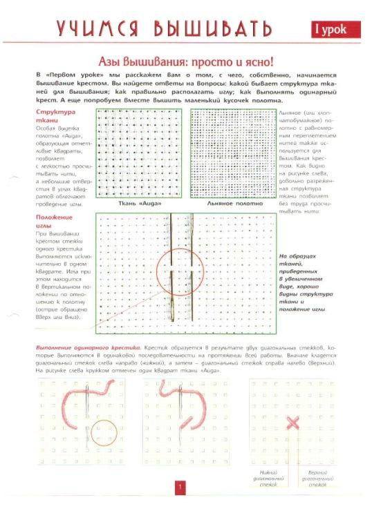 Инструкция по вышивке крестиком 535