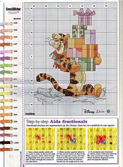 Схемы вышивок тигра - полные схемы