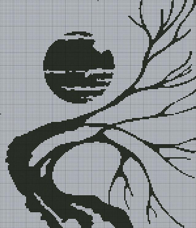 супермен логотип схема вышивки