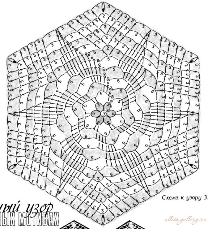 Вязание крючком спиральных мотивов 12