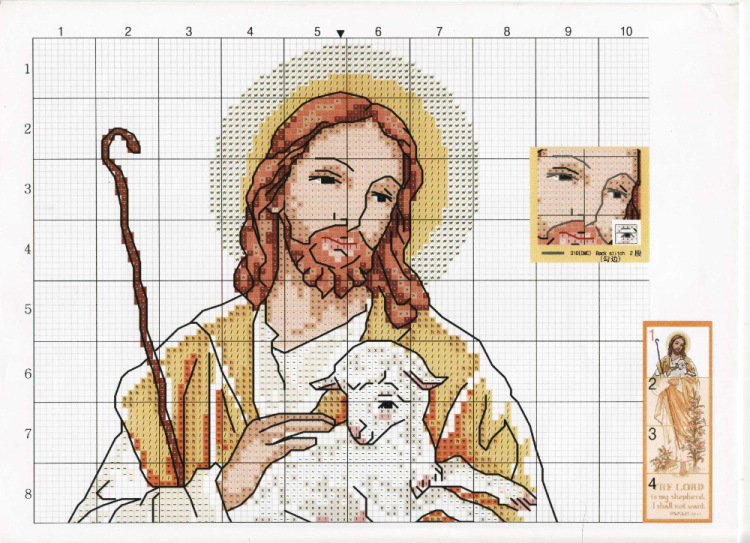 схемы вышивок крестом иисуса христа