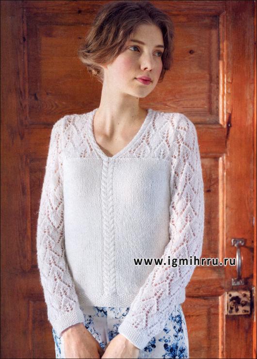 Нежный пуловер из мохера