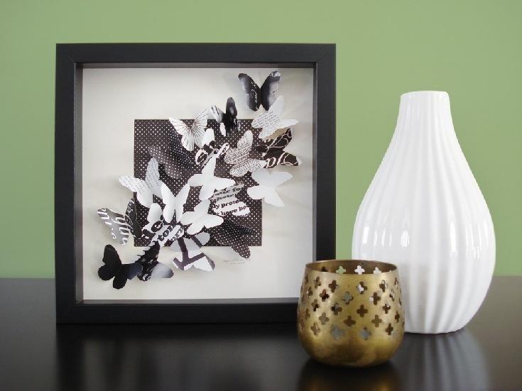 Панно с бабочками на стену своими руками