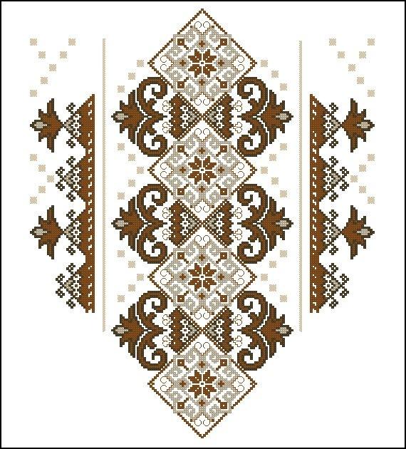 Традиционная вышивка крестом украинских сорочек-вышиванок.  Коллекция вышитых сорочек со схемами.