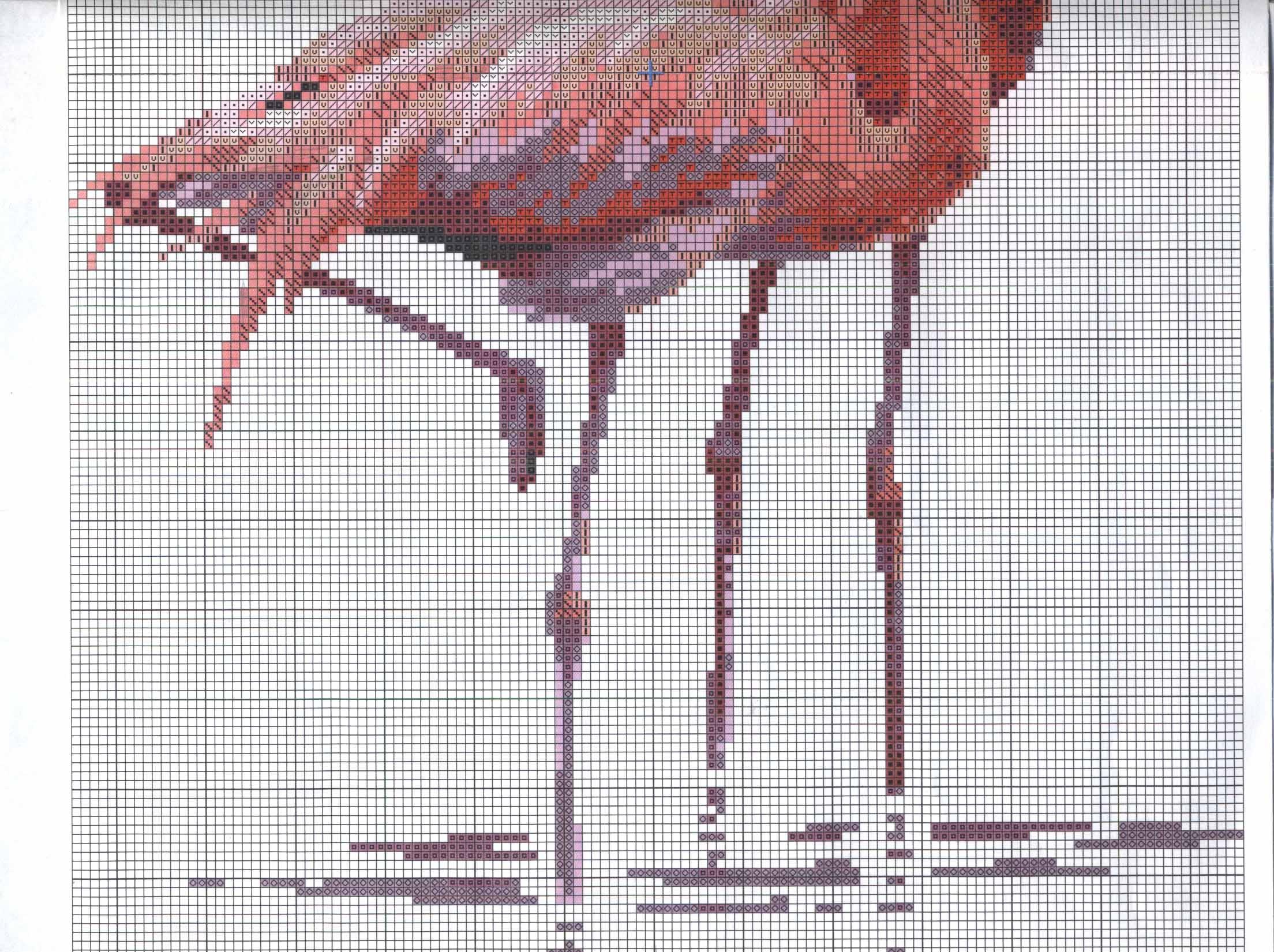 Наборы для вышивки крестом розовые фламинго
