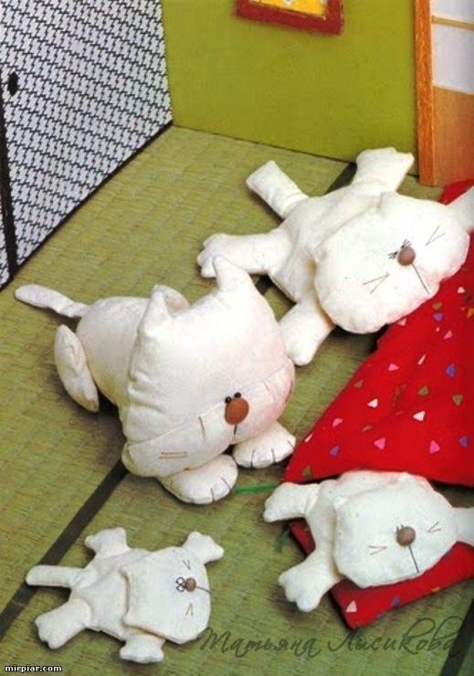 Выкройки котов - примитивов, Гарфилд, Тильда - коты. мягкой игрушки.