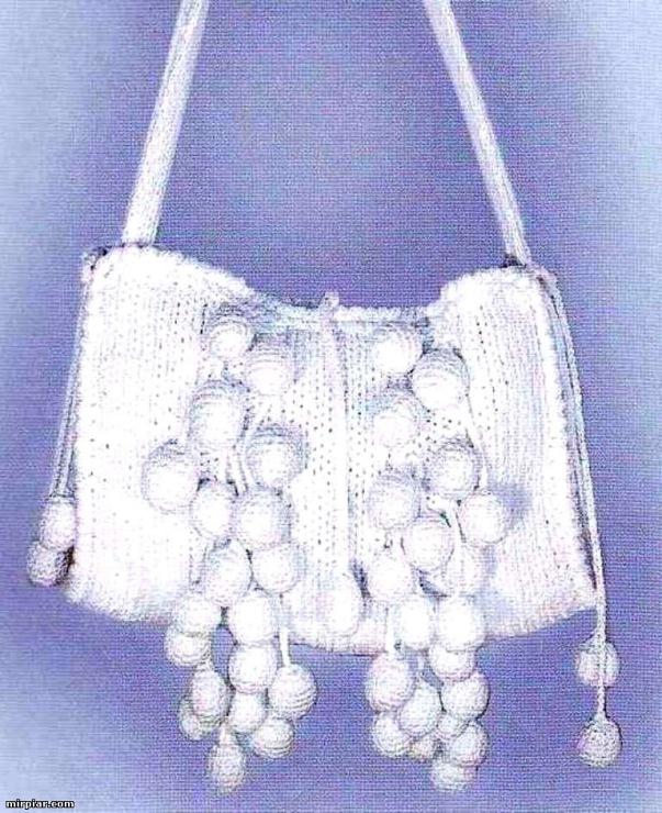 Вязаные сумки Вязание спицами и. Две сумки Тучный мешок, связанные по.