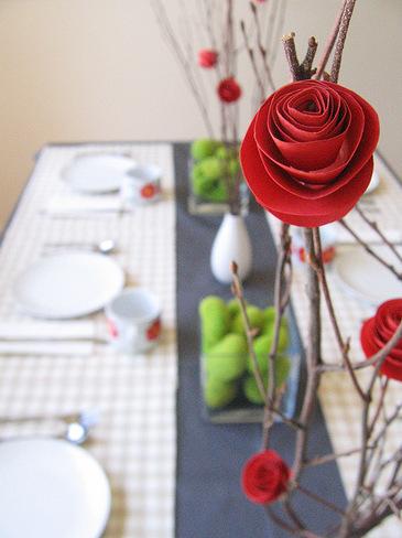 Как делать из бумаги розу