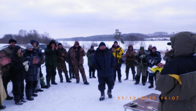 Победитель соревнований форума вологодских рыбаков