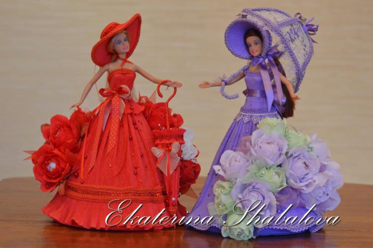 Кукла из конфет своими руками
